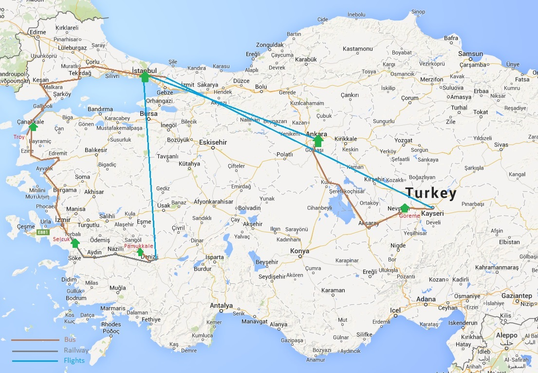 turkey in 2015 being tourists